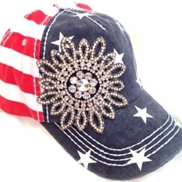 Olive   Pique American Flag Patriotic Baseball Cap 4b3a2bdc551